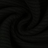 HEIKO Rippbündchen schwarz