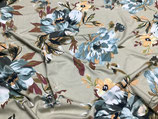 Selina Viskosejersey Blumen auf beige
