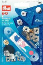 Prym Hosenhaken und -Stege 13 mm silber