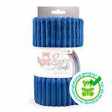 Kullaloo Plüschstoff Living Stripes 5 mm dunkelblau