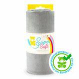 Kullaloo Plüschstoff Shorty uni 1,5 mm hellgrau
