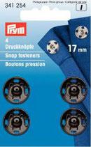 Prym 4 Druckknöpfe 17 mm schwarz