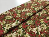 Patchwork-Baumwolle Weihnachtssterne rot/grün/weiß