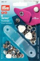 Prym Jersey Druckknöpfe Zackenring  12 mm Perlkappe