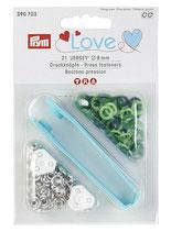 Prym Love Jersey Druckknöpfe Zackenring  8 mm grün