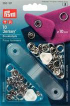 Prym Jersey Druckknöpfe Zackenring  10 mm silber