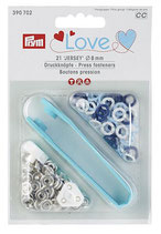 Prym Love Jersey Druckknöpfe Zackenring  8 mm blau/weiß/hellblau