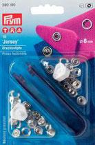 Prym Jersey Druckknöpfe Zackenring  8 mm silber