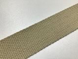 Baumwoll-Gurtband 40 mm beige