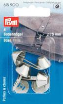 Prym 4 Bodennägel für Taschen silber