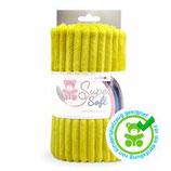 Kullaloo Plüschstoff Living Stripes 5 mm (senf)gelb