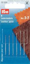 Prym Ledernadeln silberfarbig ST 3-7