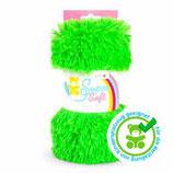 Kullaloo Plüschstoff Shaggy 20 mm grün