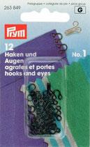 Haken und Augen No. 1 schwarz