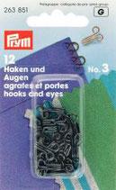 Haken und Augen No. 3 schwarz