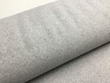Stoffonkel Bio-Baumwollfleece Nevis (hellgrau meliert)