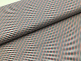 Baumwolle Kiel Streifen rot/blau/weiß