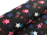 Nano-Softshell Fiete Sterne pink/schwarz