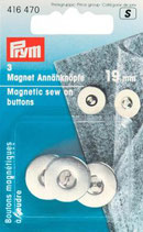 Prym 3 Magnet-Annähknöpfe silber