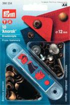 Prym Anorak-Druckknöpfe 12 mm altmessing