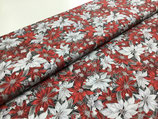 Patchwork-Baumwolle Weihnachtsstern rot/weiß