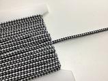 Anorakkordel 6 mm zweifarbig schwarz/weiß