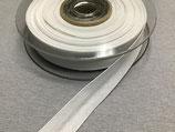 Baumwoll-Schrägband 40/20 mm Col. 009 weiß