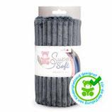 Kullaloo Plüschstoff Living Stripes 5 mm grau