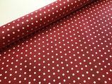 Beschichtete Baumwolle Leona Punkte weiß/rot