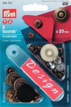Anorak Druckknöpfe 20 mm altmessing