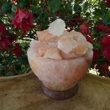 Lampe de sel vasque avec morceaux