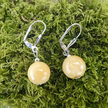 Boucles d'oreilles Calcite Orange