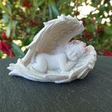 Chérubin dormant dans ailes d'ange