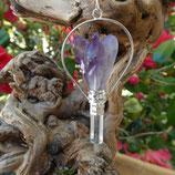 Pendule ange Améthyste et Cristal roche