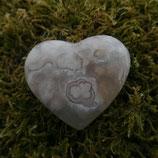 Cœur Agate Fleur N° 2