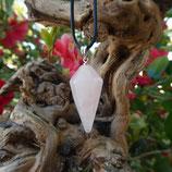 Pendule conique Quartz Rose