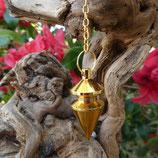 Pendule conique doré