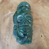Statuette Malachite brute & visage  polie