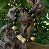 Bracelet Chinois - Obsidienne Noire