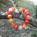 Bracelet Agate Orange