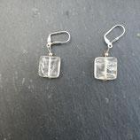 Boucles d'oreilles carré  Cristal de roche