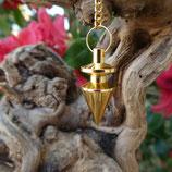 Pendule métal conique doré ou cuivré