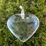 Pendentif  Cœur Cristal de roche