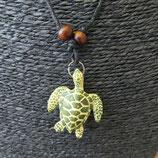 Collier  tortue marine verte