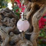 Pendule boule Quartz rose chromé