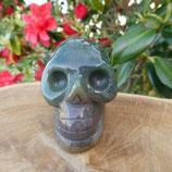 Crâne Agate Verte