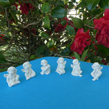 Lot 6 petits chérubins assis (blanc)