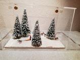 """Diorama """"Winter mit Hundeschlitten"""""""