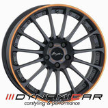 BREYTON MAGIC CW MATT GREY ORANGE ANODIZED LIP | 18 ZOLL | FÜR MINI F56 JCW | 330,00 EURO PRO STÜCK