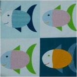 Fat Quarter Fische - groß